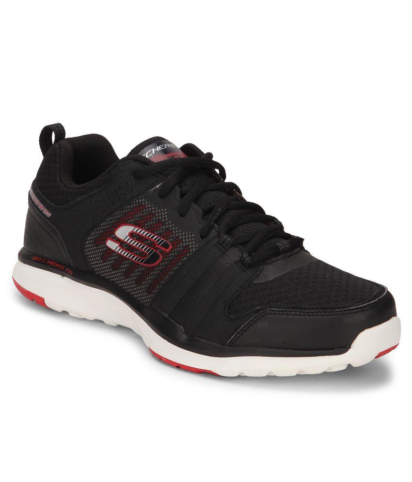 Skechers 51542-BKRD Black Training Sports Shoes ...