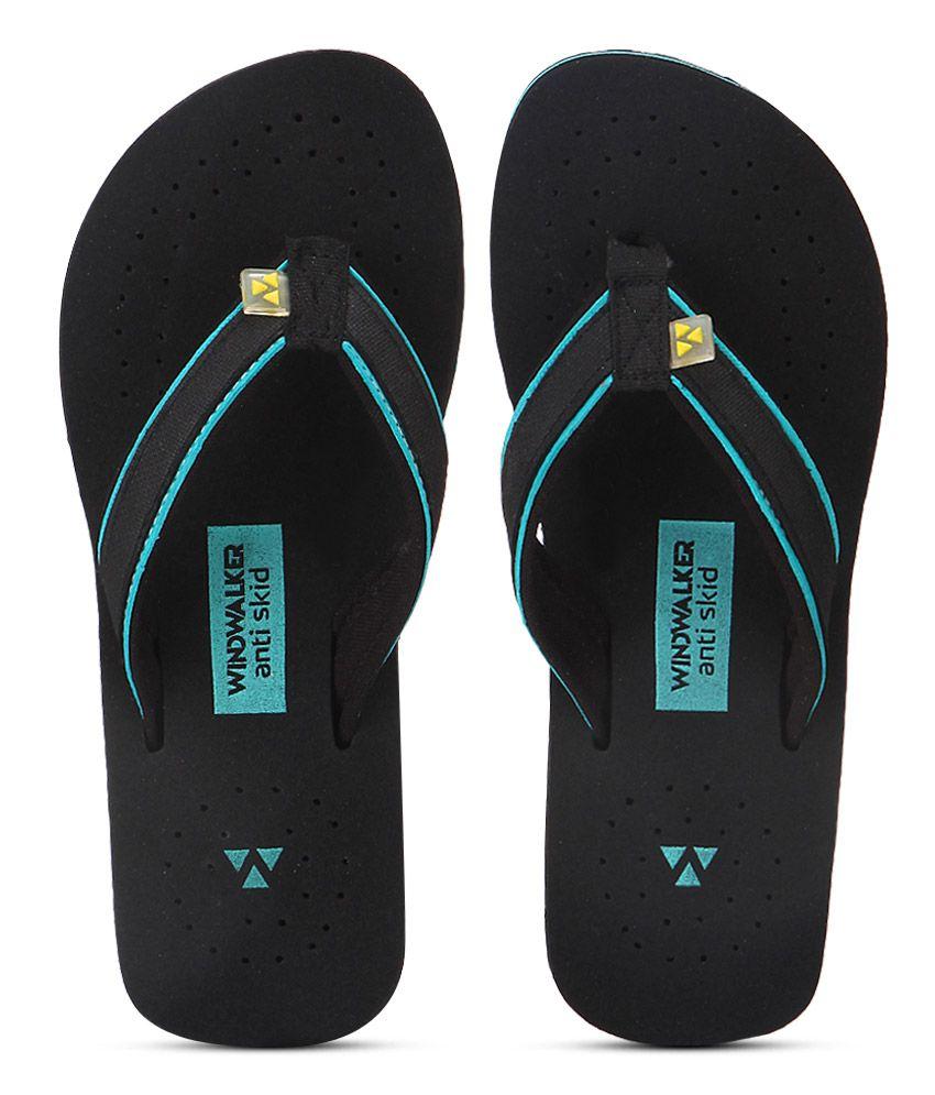 Windwalker Sirena Black Flip Flops