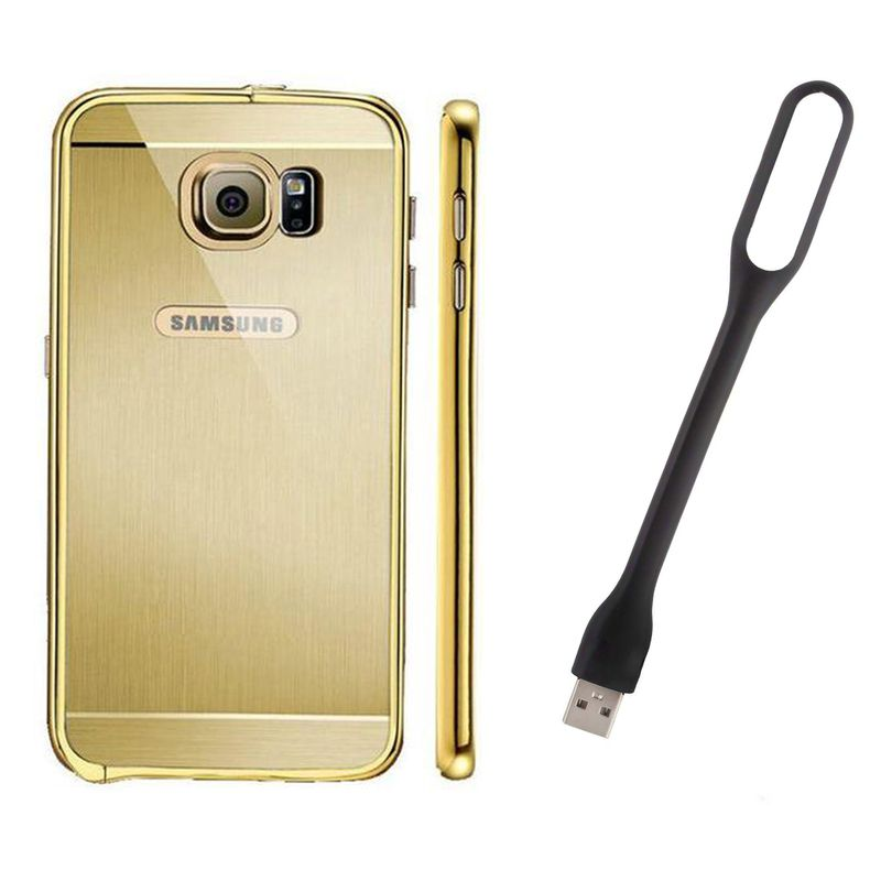Mirror Back Cover For Samsung Galaxy S6 Edge + Usb Light free by Style Crome.