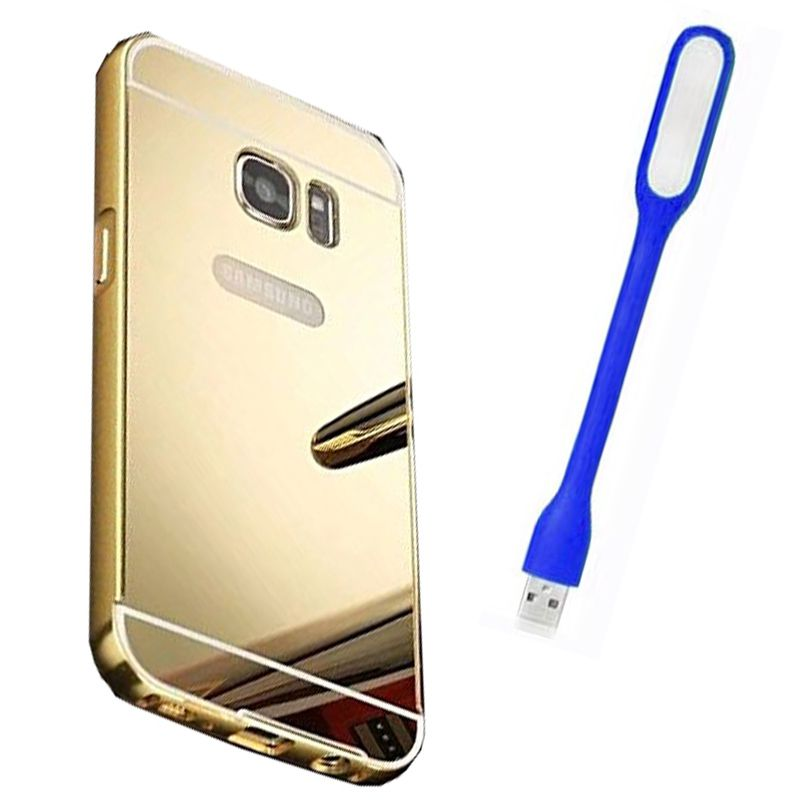 Mirror Back Cover For Samsung Galaxy S7 Edge + Usb Light free by Style Crome.