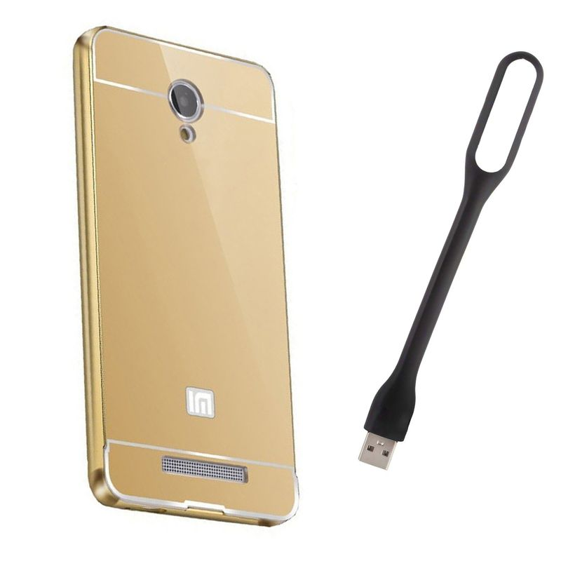 Mirror Back Cover For Xiaomi Redmi Note + Usb Light free by Style Crome.