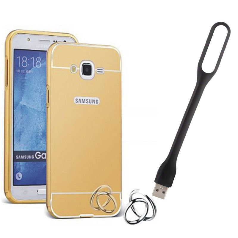 Mirror Back Cover For Samsung  Metro + Usb Light free by Style Crome.