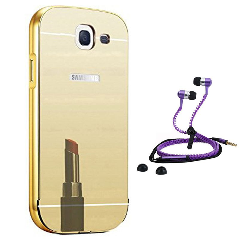 Mirror Back Cover For Samsung Galaxy A710 + Zipper earphone free by Style Crome.