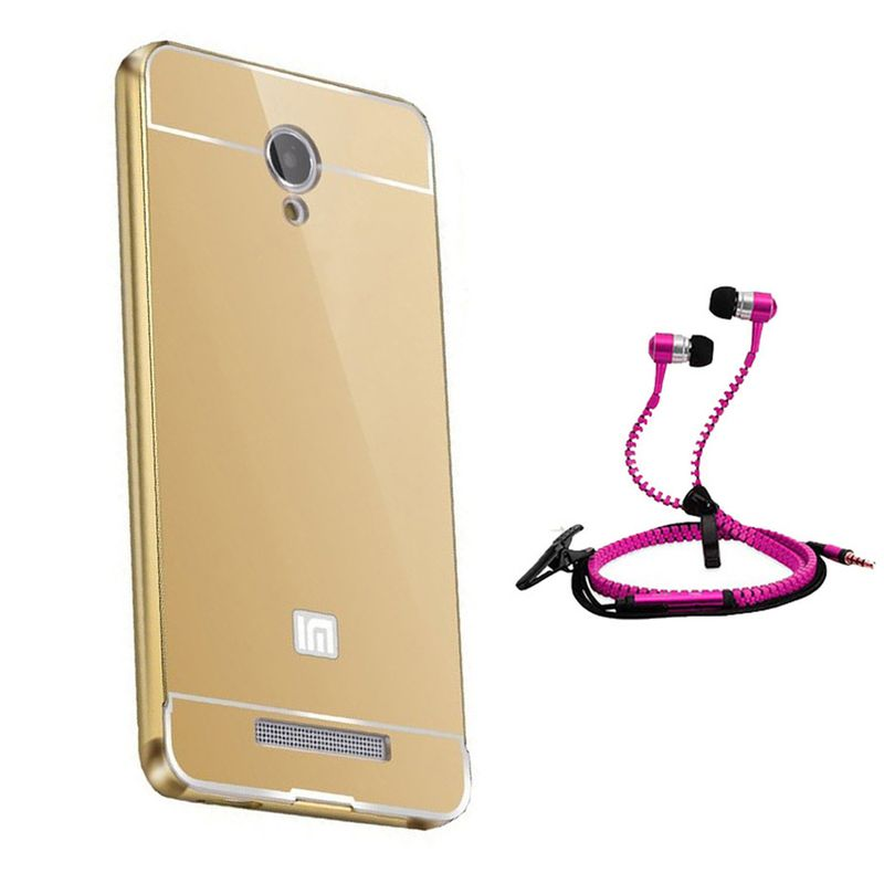 Mirror Back Cover For Xiaomi Redmi Note + Zipper earphone free by Style Crome.