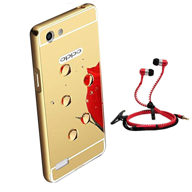 Mirror Back Cover For Oppo Neo 5 + Zipper earphone free by Style Crome.
