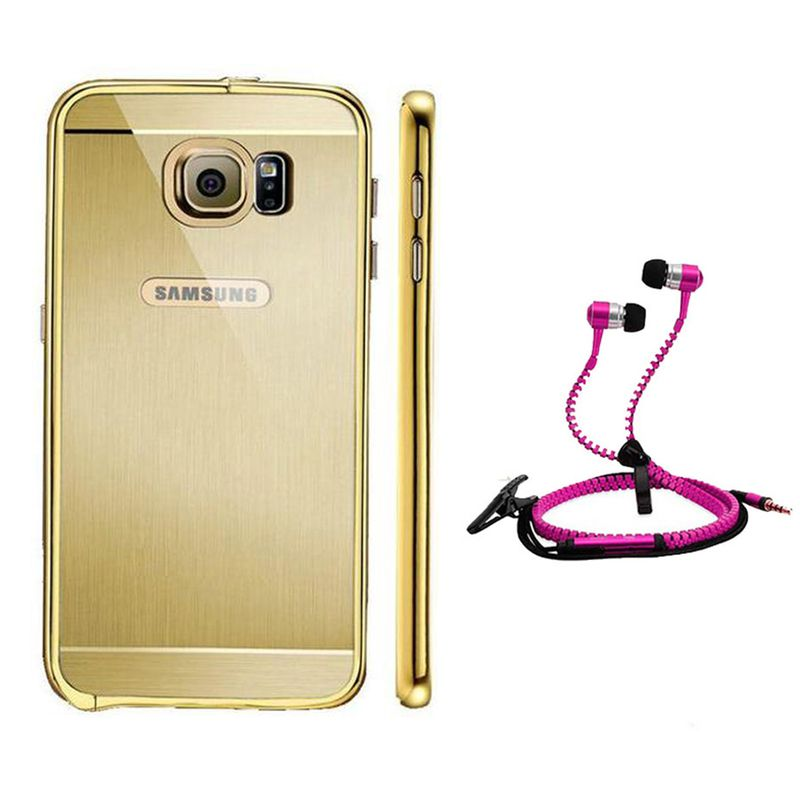 Mirror Back Cover For Samsung Galaxy S6 Edge + Zipper earphone free by Style Crome.