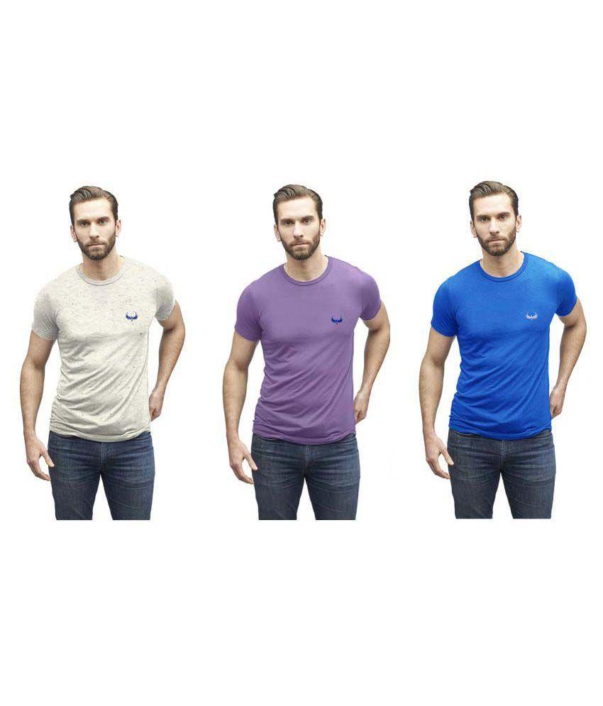 Avenster Multi Round T-Shirt Pack of 3
