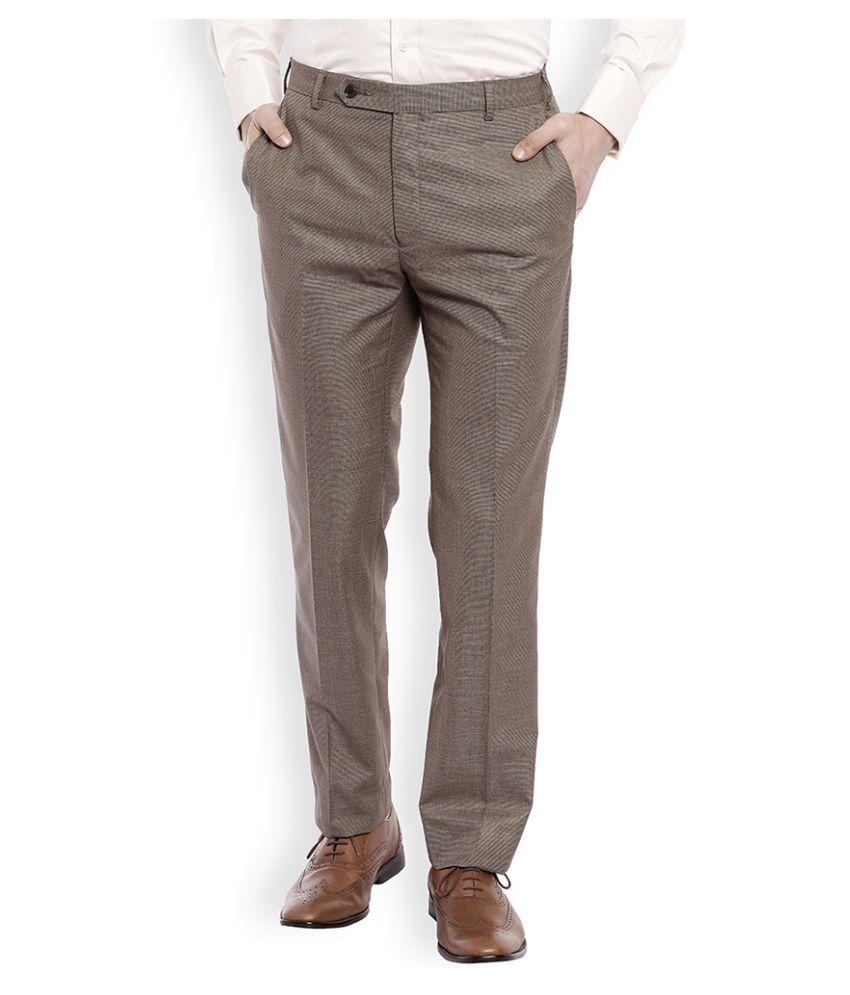 Raymond Brown Regular Flat Trouser