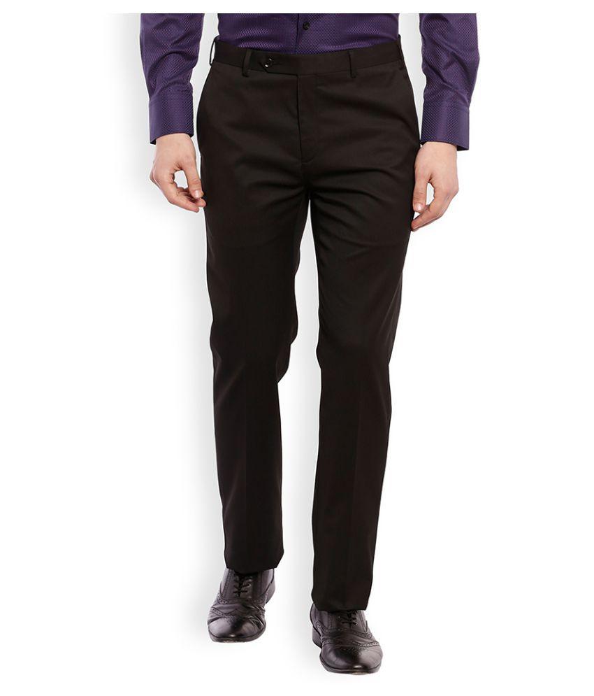 Raymond Black Regular Flat Trouser