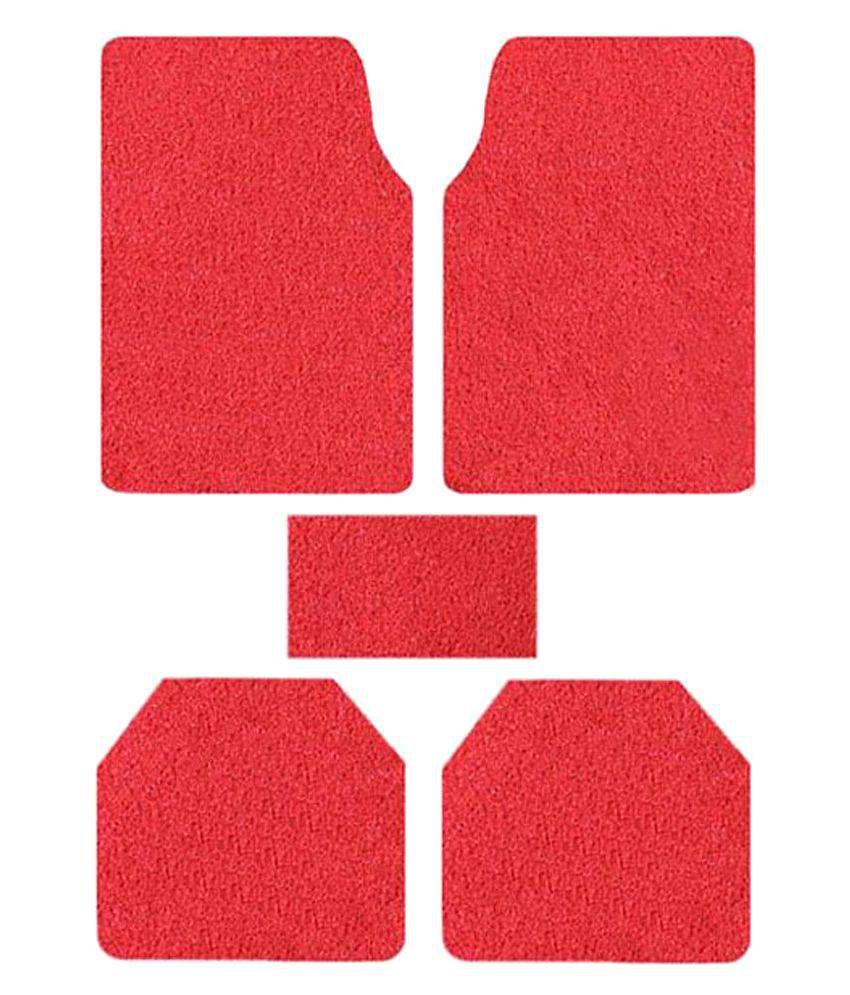True Vision Red Car Floor Mat - Set of 5\n