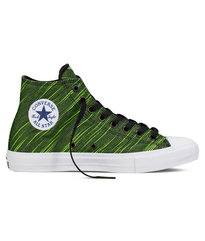Converse Shoes Black And Green