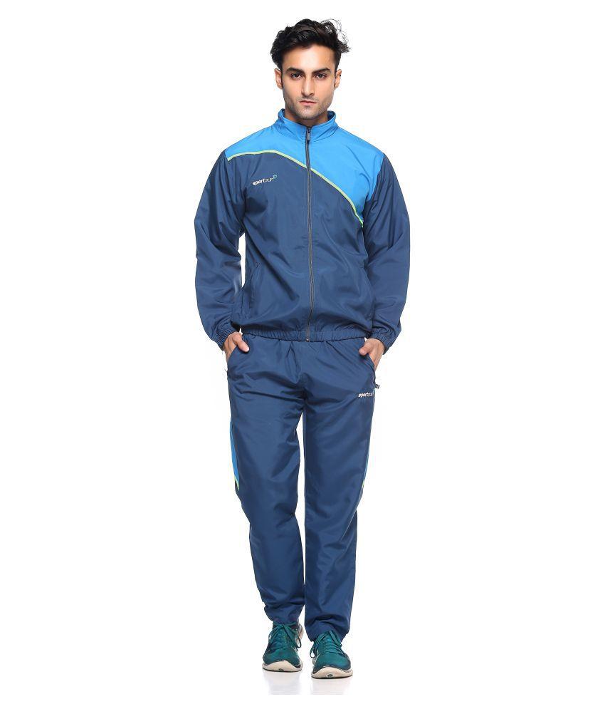 Sport Sun Blue Polyester Tracksuit