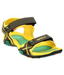 Sparx SS0451G Green Floater Sandals
