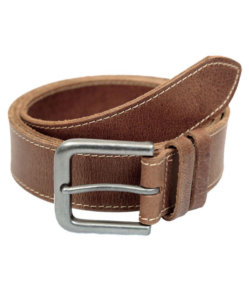 Blue Oak Khaki Leather Casual Belts