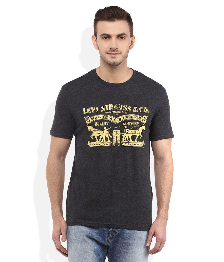 Levis Black Round Neck T Shirt