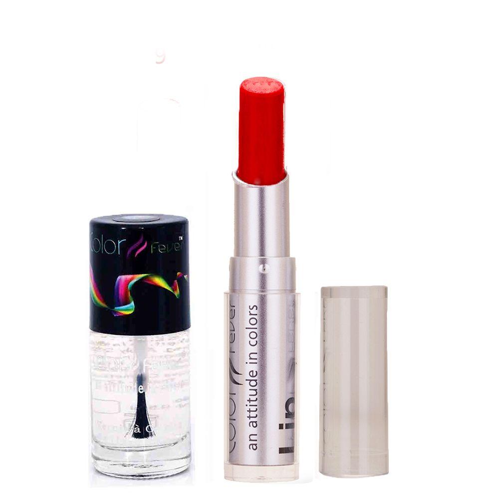 933 Topcoat Nail Polish+Red Lipstick