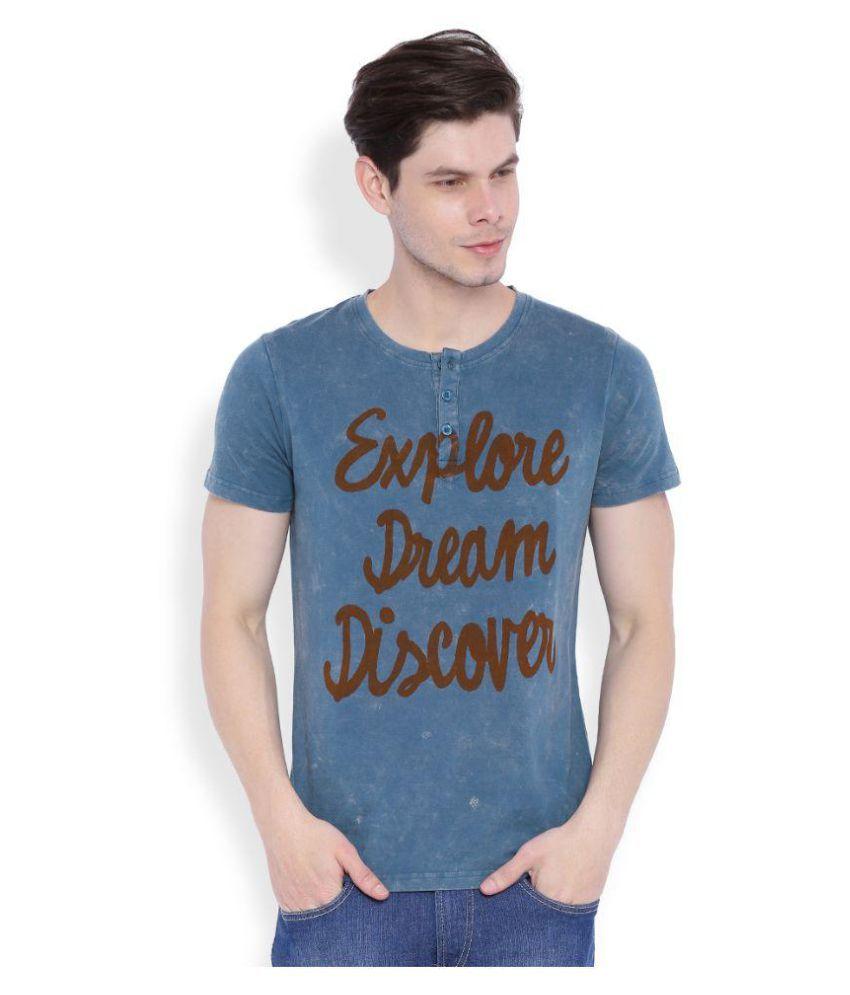 Ankran Blue Henley T-Shirt