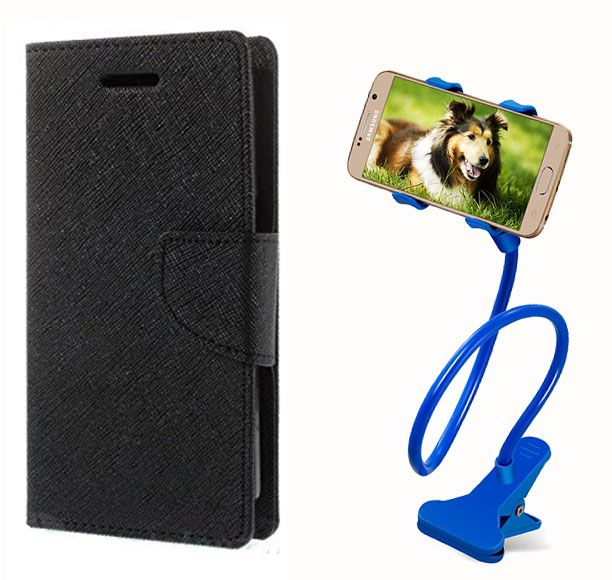 Fancy Flip Case Back Cover For Nokia Lumia 720(Black) + 360 Rotating Bed Mobile lazy stand by  Aart store.