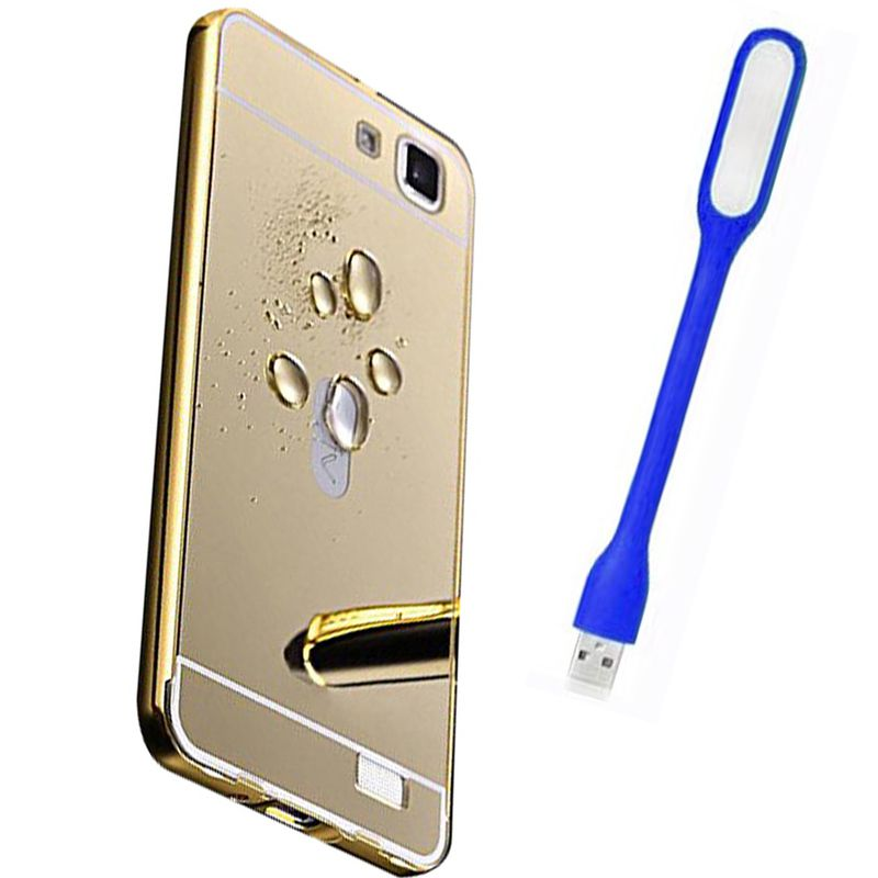 Mirror Back Cover For Vivo V1 + Usb Light free by Style Crome.