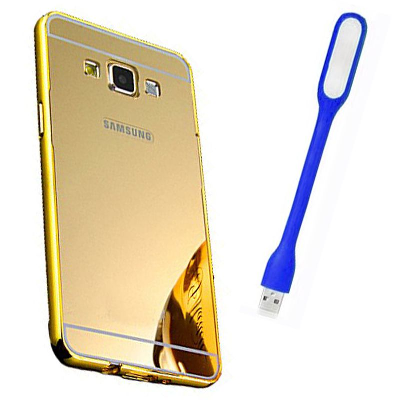 Mirror Back Cover For Samsung Galaxy J7 + Usb Light free by Style Crome.