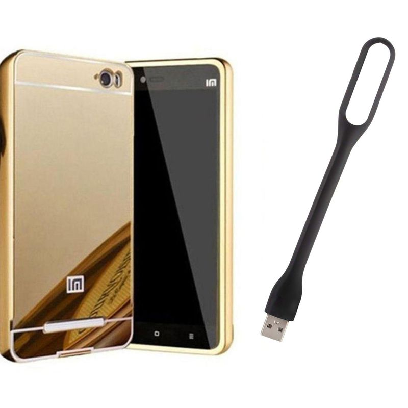 Mirror Back Cover For Xiaomi Redmi Mi4i + Usb Light free by Style Crome.