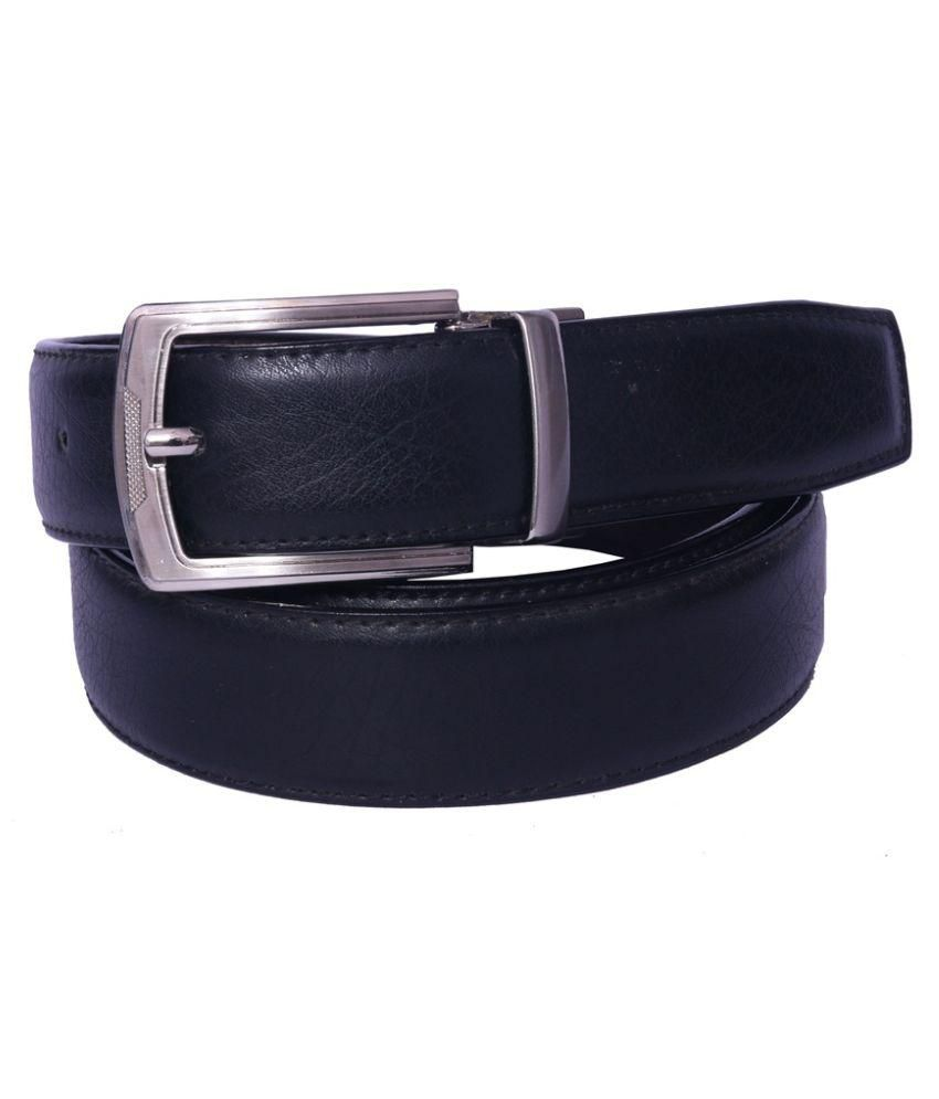 Coovs Black Faux Leather Formal Belts