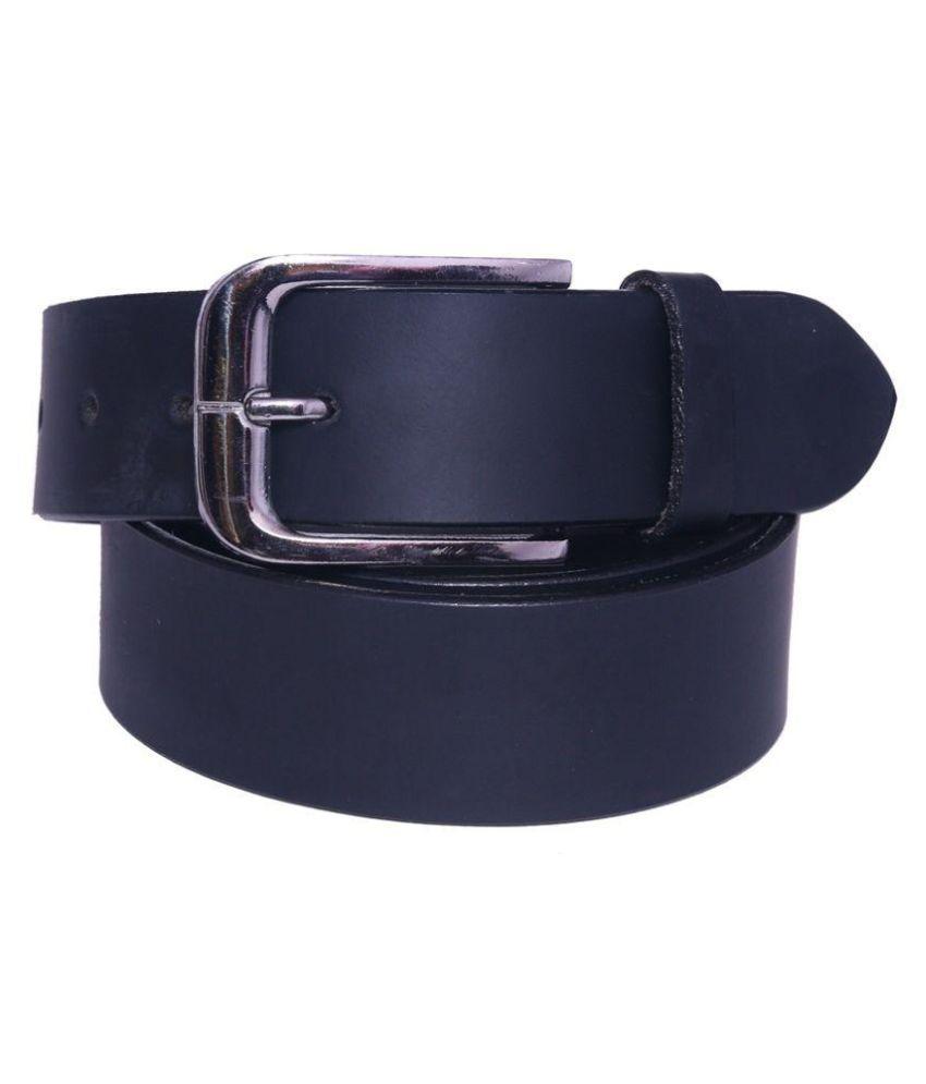 Coovs Black Leather Formal Belts