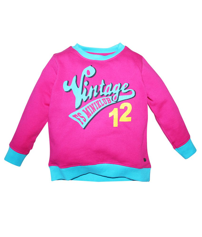 FS MiniKlub Pink Printed Sweatshirt