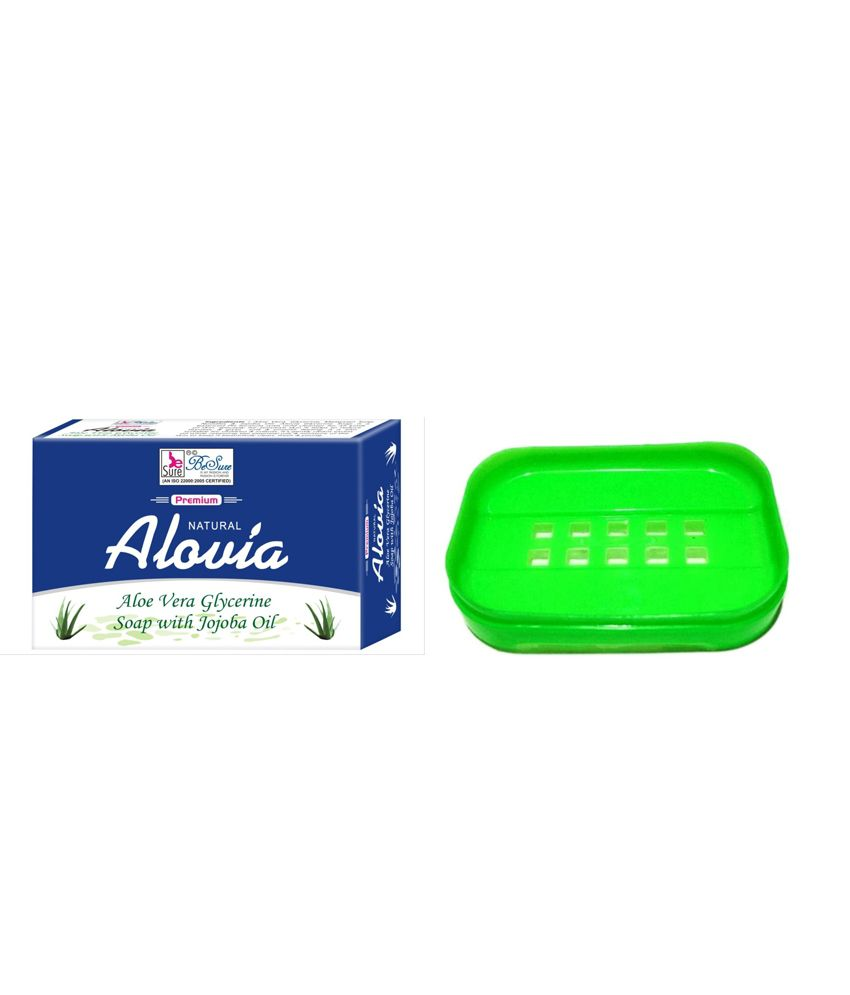 BeSure Natural Aloe Vera Soap (100 G)-Get 1 Soap Case FREE.