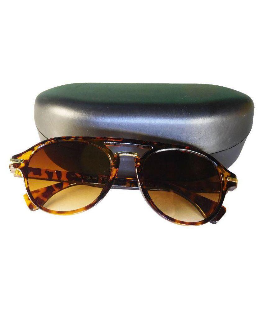 Breath Brown Oversized Sunglasses ( HA002 )