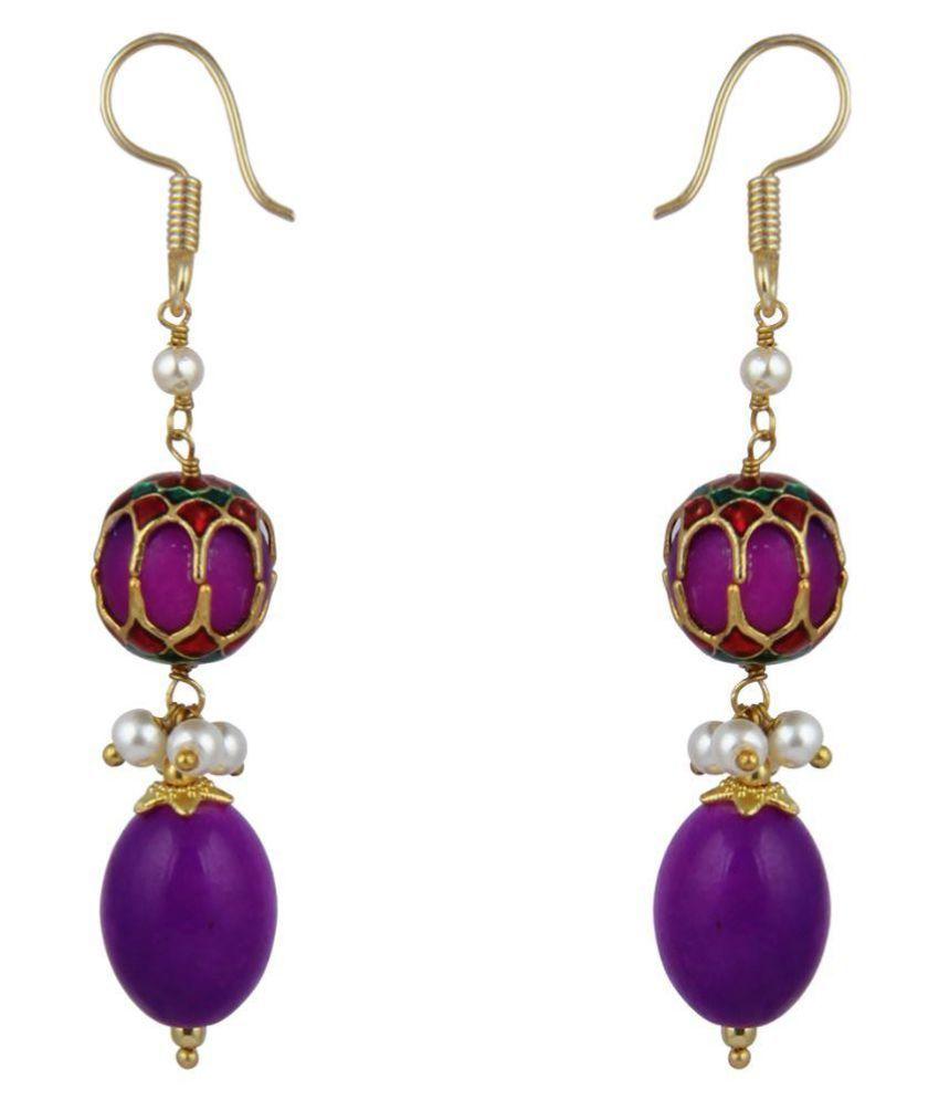 Pearlz Ocean Multicolor Drop Earrings
