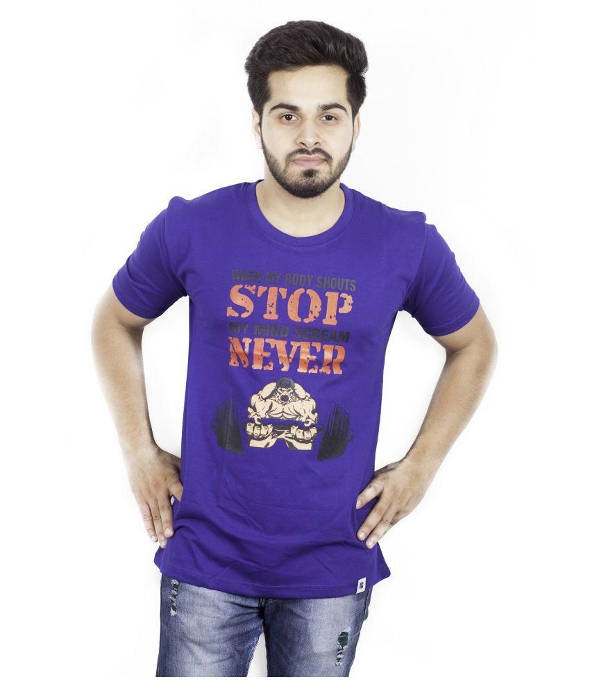 Fashion Ball Purple Round T-Shirt