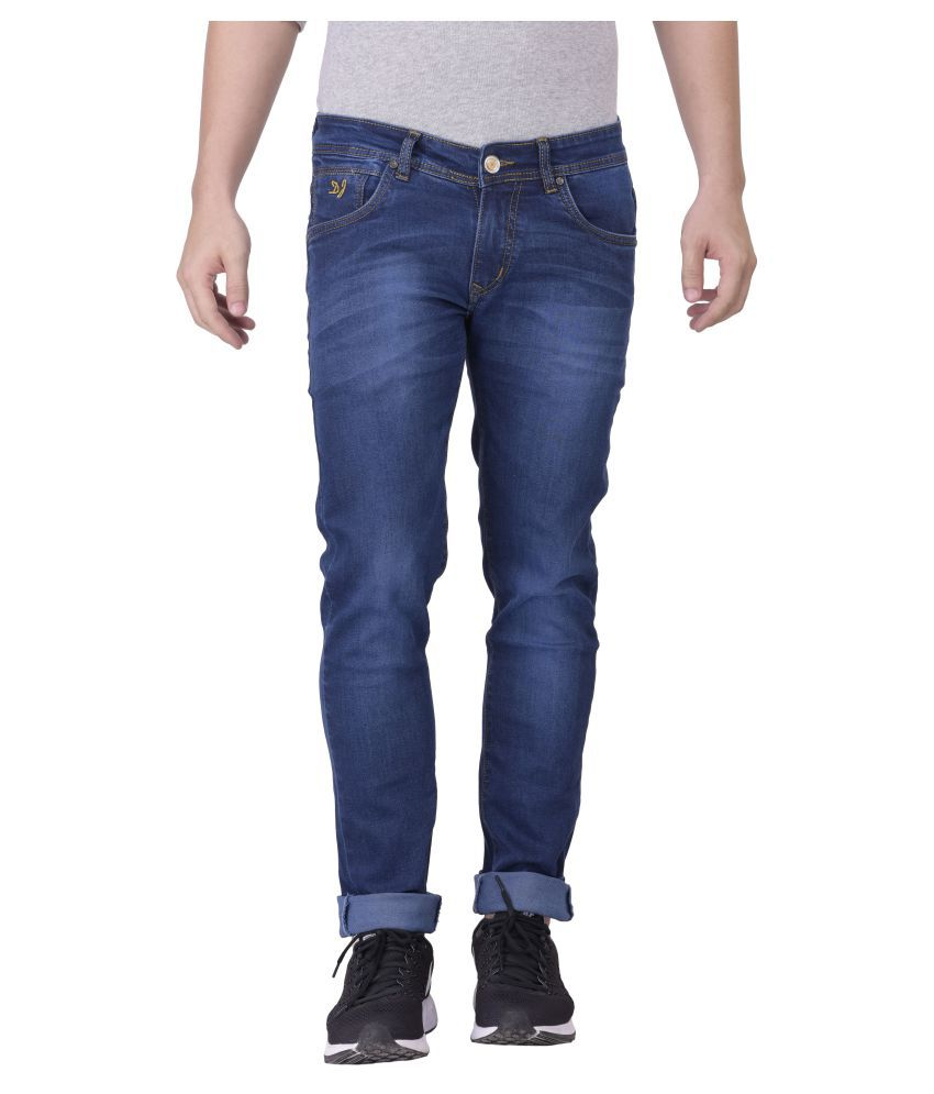Denzor Exclusive Smart Stretchable Slim Fit Blue jeans