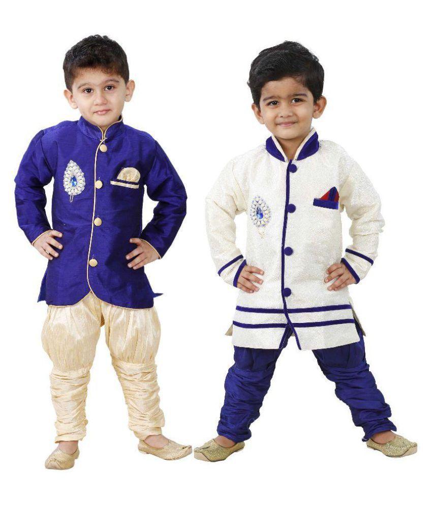 Ftcbazar Multicolor Cotton Kurta Pajamas - Pack of 2