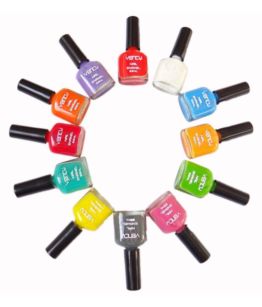 Vency Nail Enamel Polish Multicolor Glossy Set Of 12: Buy Vency Nail ...