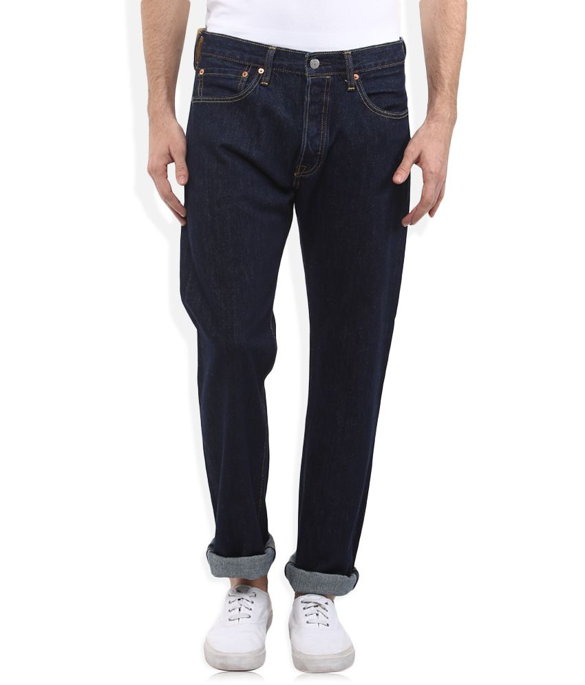 Levis Blue 501 Skinny Fit Jeans
