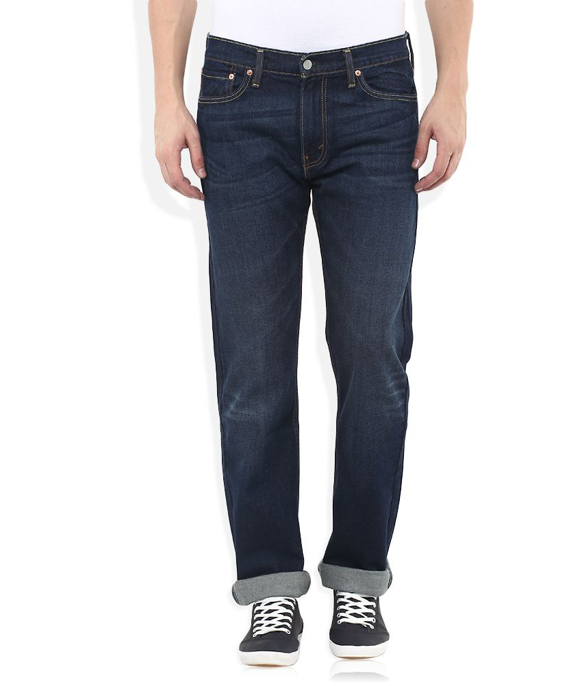 Levis Blue 519 Skinny Fit Jeans