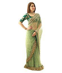 Isha Enterprise Green Net Saree