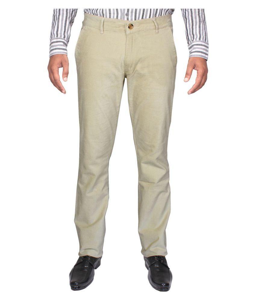 Cay Beige Slim Flat Trouser