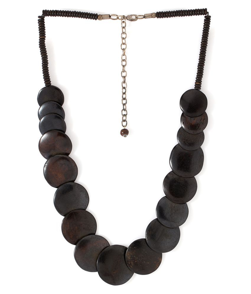 Voylla Crystal Studded Black Necklace