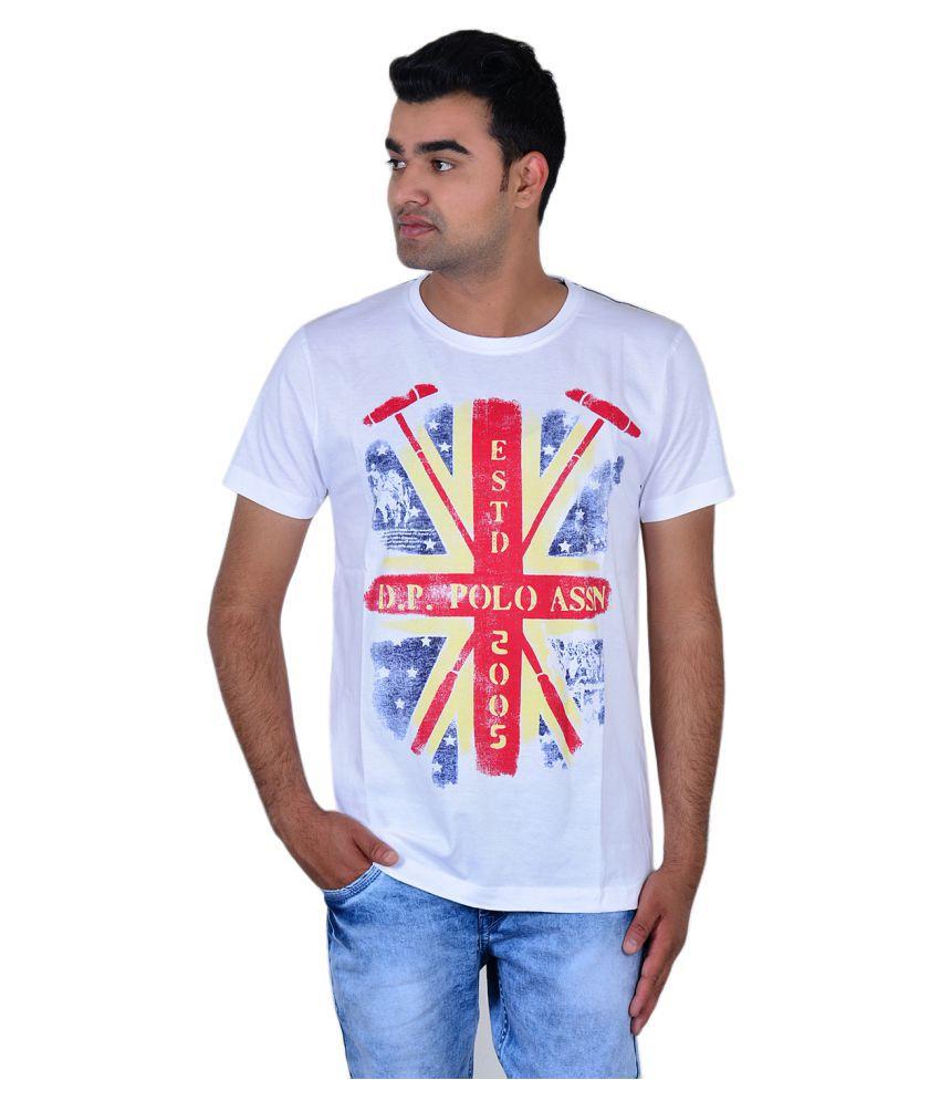 Zeba Corp White Round T-Shirt