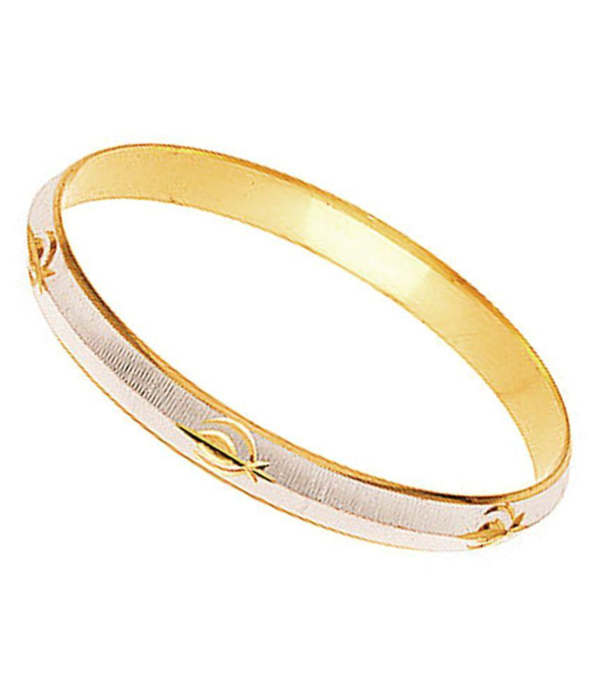 Mens Jewell Golden And Silver Kada ...