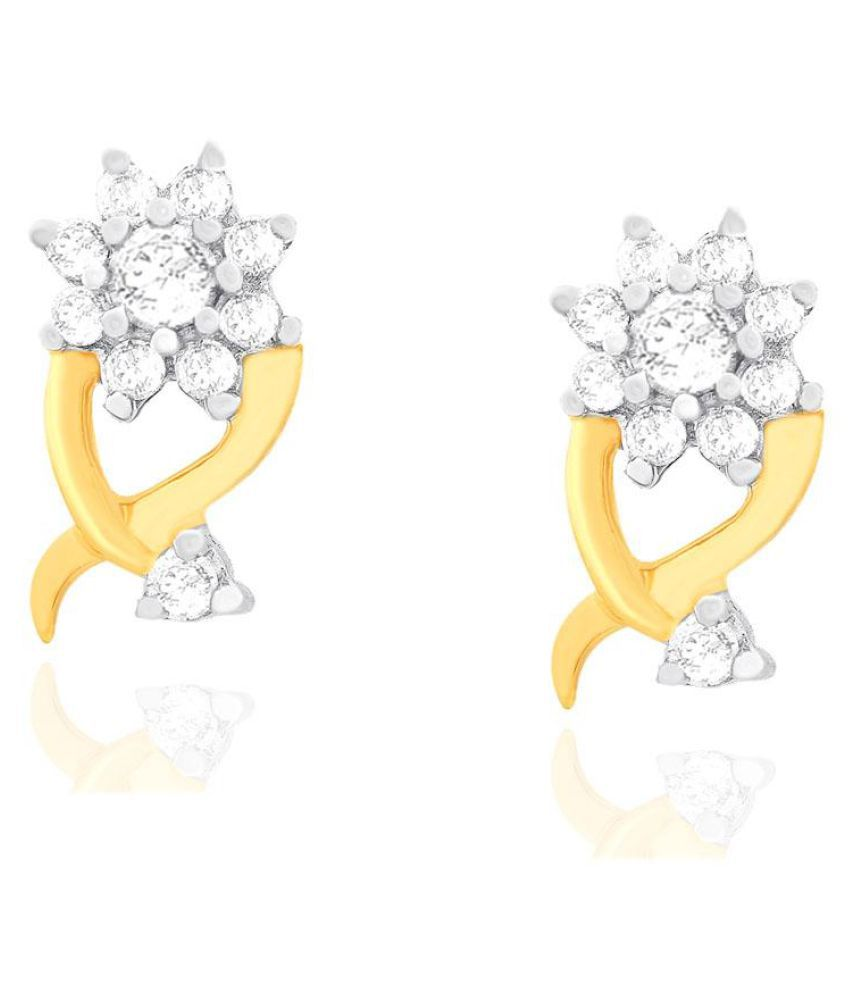 Nakshatra 18k BIS Hallmarked Yellow Gold Diamond Studs