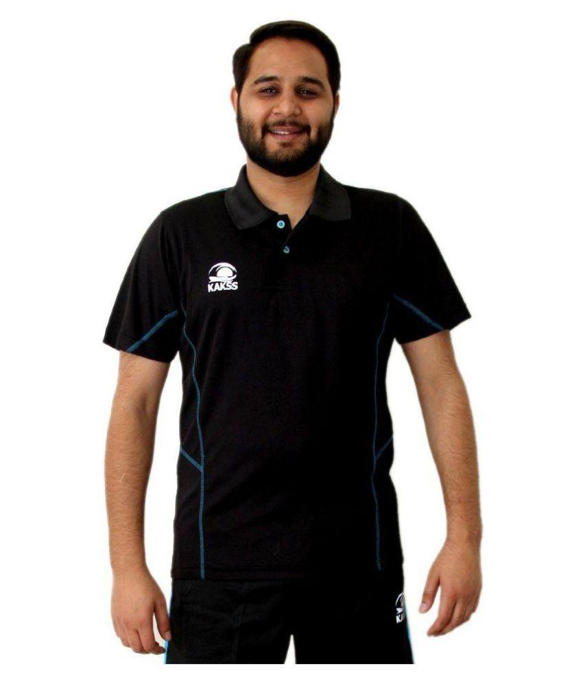 Kakss Black Polo T Shirt