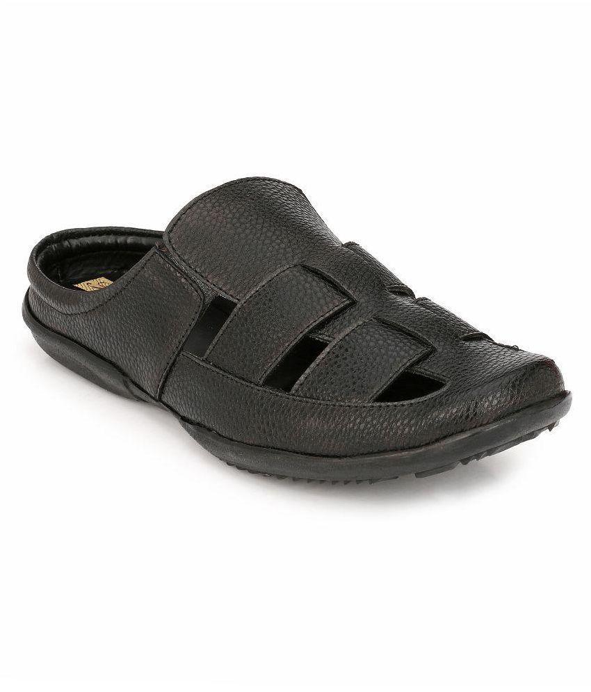 b970c5a31480 Peponi Black Sandals Price in India- Buy Peponi Black Sandals Online at  Snapdeal