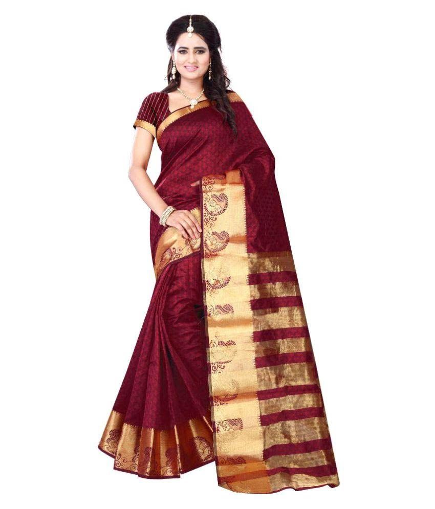 SR Fashion Brown and Beige Cotton Saree