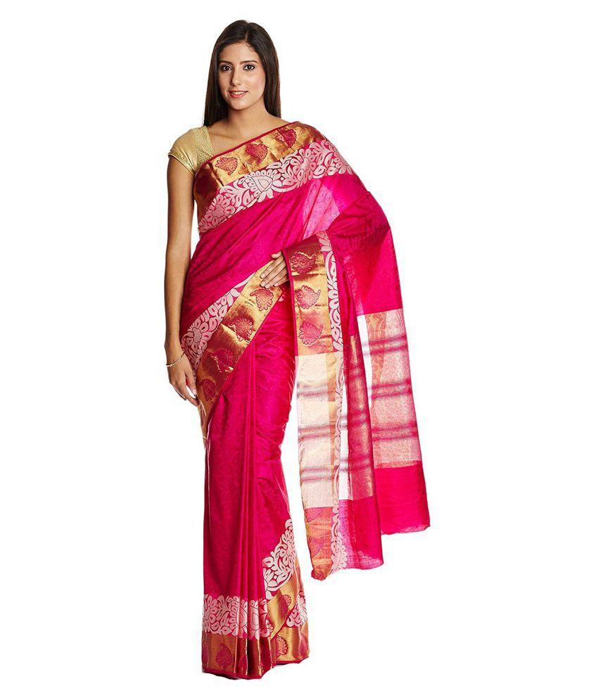 Parchayee Pink Jacquard Saree