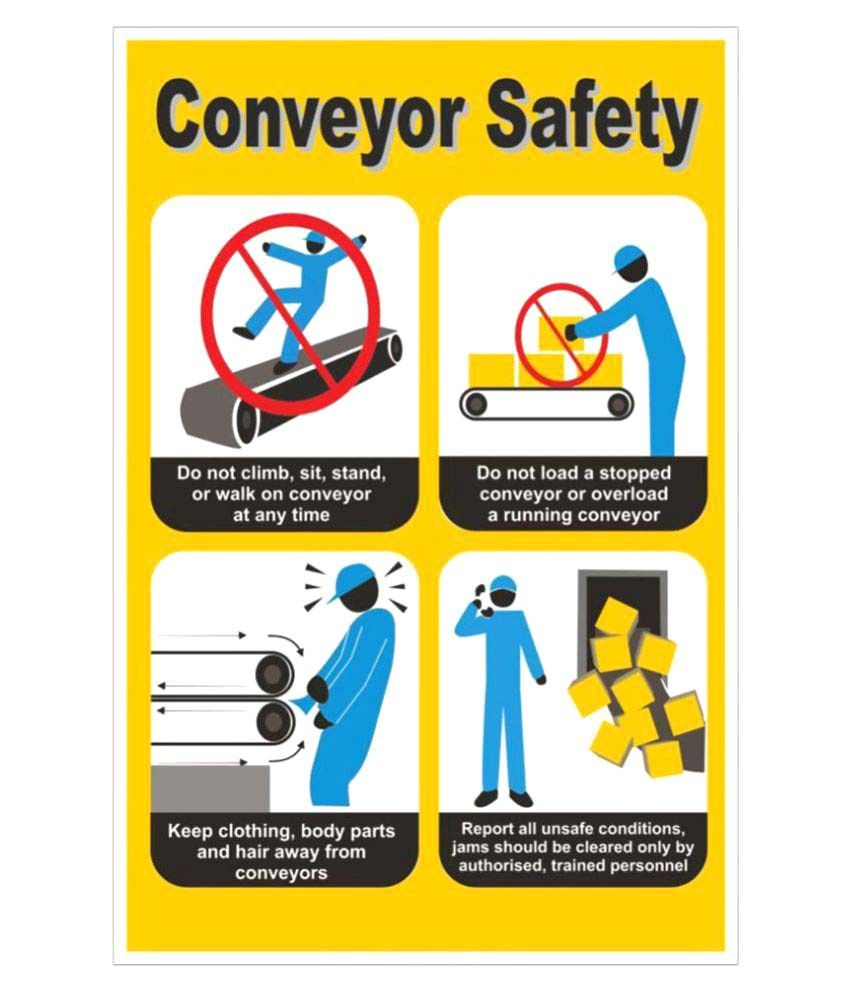 Signageshop high quality flex conveyor safety poster buy for Best place to buy posters in store