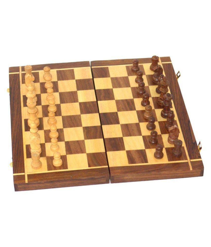Desi Karigar Brown Wooden Chess Board