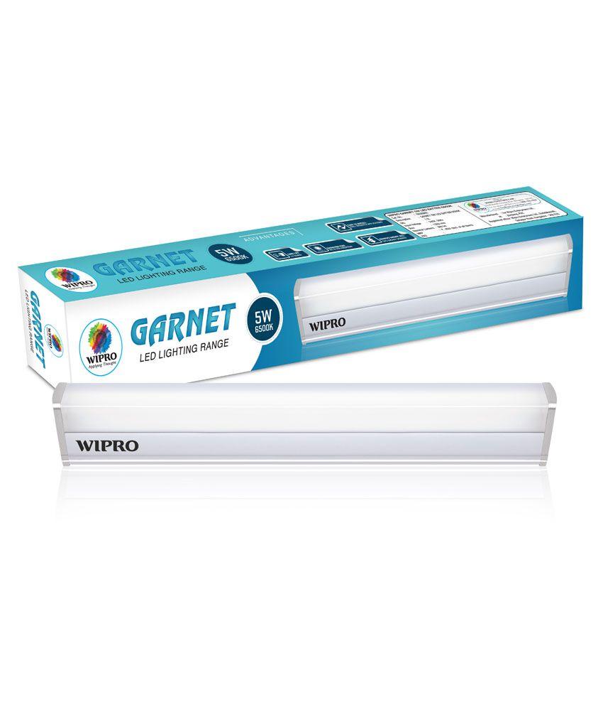 Wipro Garnet 5W 1Ft. LED Tubelight Batten 6500K  Cool Day Light